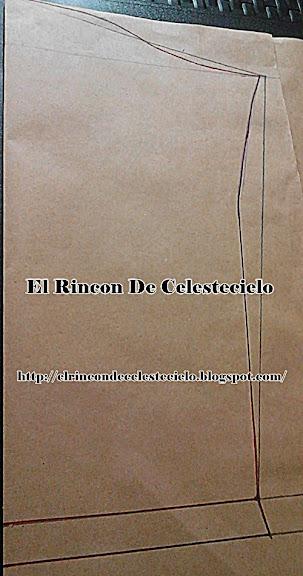 Trazo de manga básica para tejido de punto con copa pequeña