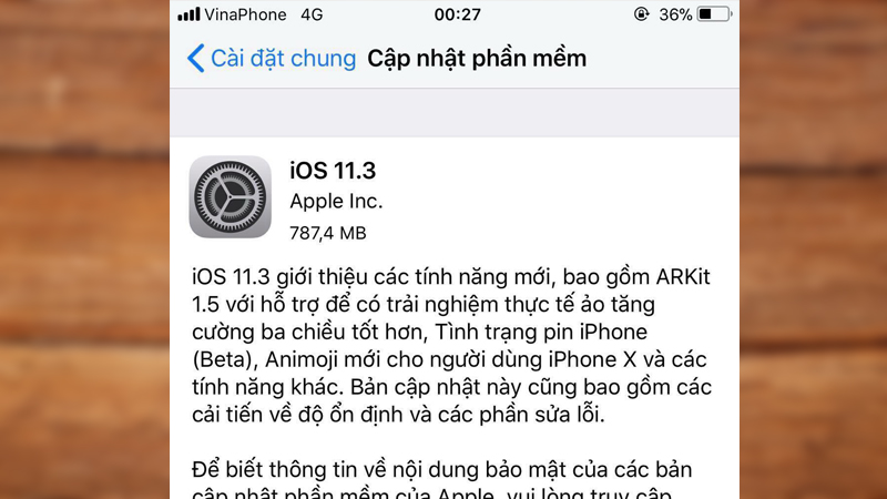 hướng dẫn cập nhật ios 11.3
