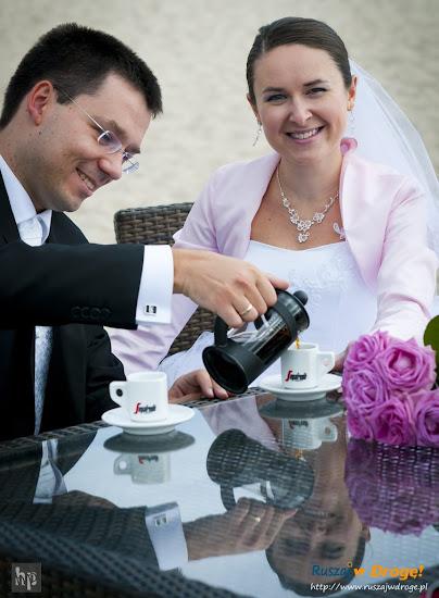 ślub Kasi i Maćka - poranna kawa