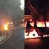 Mobil Terbakar di Ruas Jalan Sukabumi - Palabuhanratu, Sempat Terjadi Ledakan