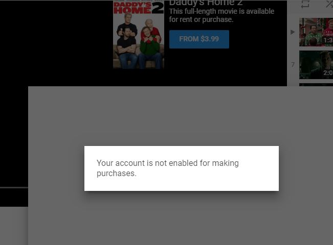 Your account is not enabled for making purchases