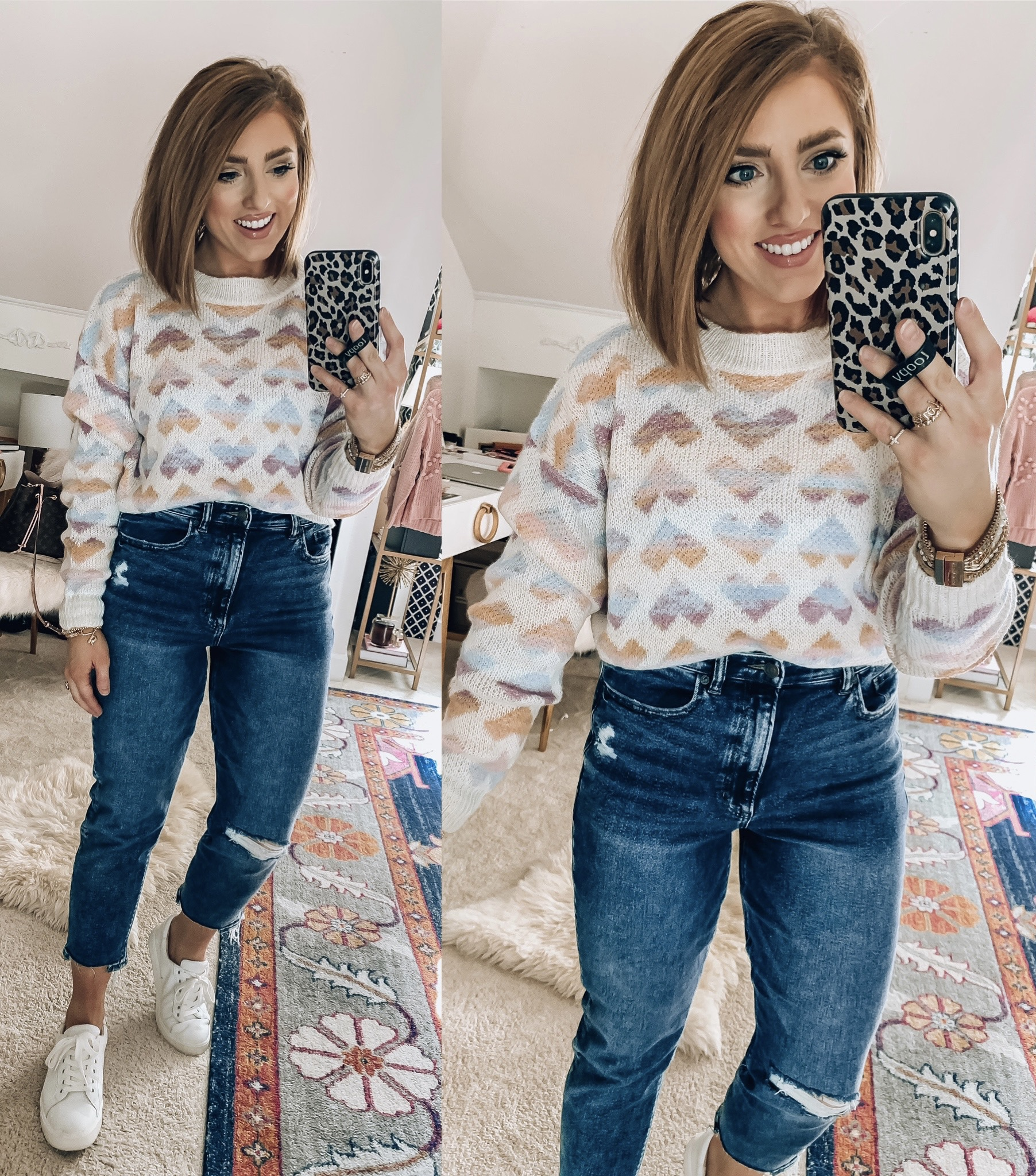 Recent Affordable Finds + Tips for shopping at Shein - Valentine Sweaters, Mommy and Me Pieces and more: Something Delightful Blog #Affordablefinds #Heartsweaters #affordablestyle #shein