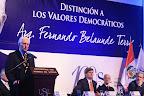 """Javier Alva Orlandini: """"Creemos que la obra de Fernando Belaunde debe continuar y en eso tenemos q ratificar nuestra convicción democrática de trabajar por el país""""."""