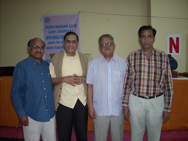 10. L to R G SomiReddy, A Subba Raju and K Nageswara Rao with the chief guest K Swaminathan