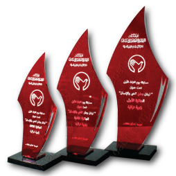 Tr.501 Red Acrylic Economy Trophies