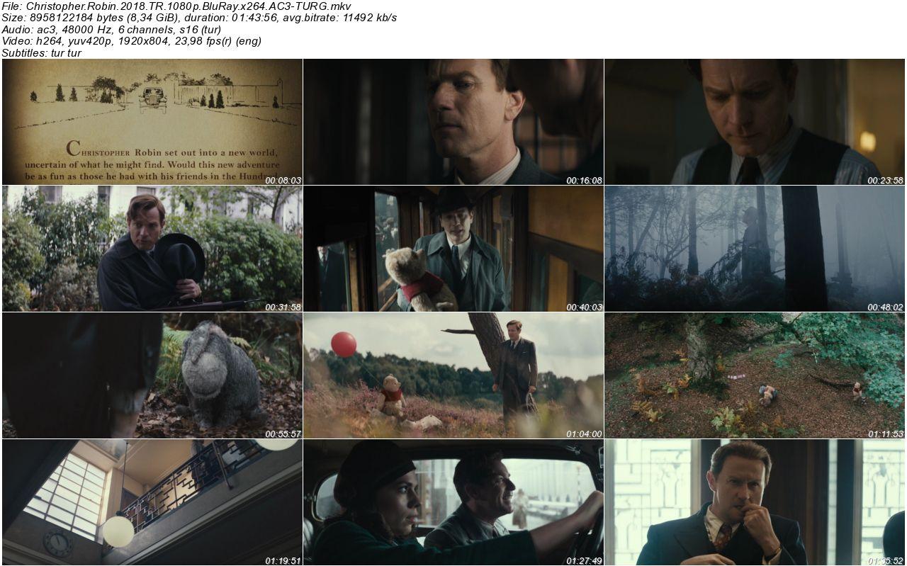 Christopher Robin 2018 - 1080p 720p 480p - Türkçe Dublaj Tek Link indir