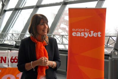 easyJet CEO Carolyn McCall in Reykjavik Iceland