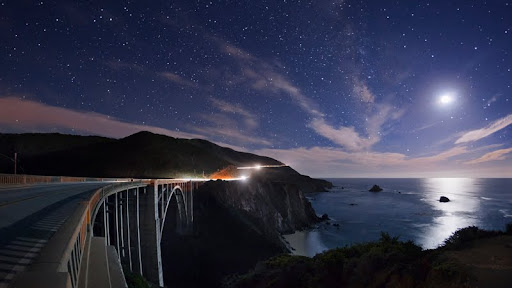 Bixby Bridge by Moon Light, Near Big Sur, California.jpg