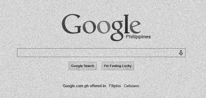 google philippines black and white