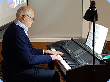 John Holster playing the Clavinova CVP-509.