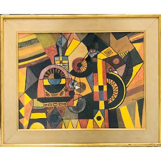 Martin Rosenthal Signed Modernist Framed Oil Painting