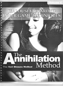 Cover of Neil Strauss's Book The Annihilation Method Jealously Guarded Inner Game Techniques