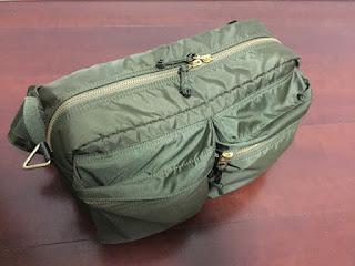 マジシャンえいちの鞄 PORTER FORCE 2WAY WAIST BAG オリーブドラブ大