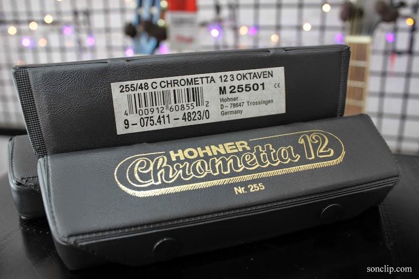 Kèn Harmonica - Hohner Chrometta 12