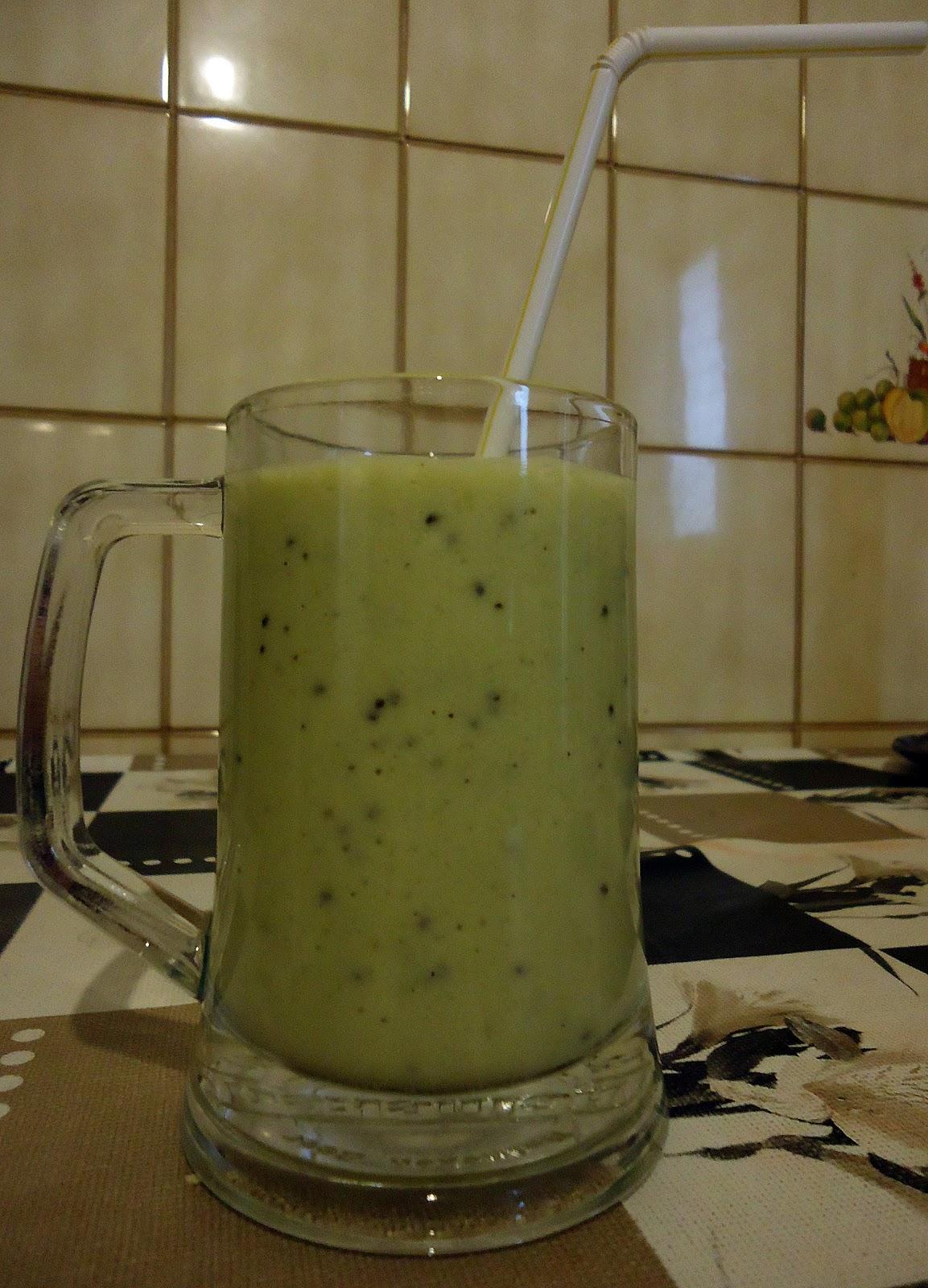 Las recetas de mariant batido de kiwi y pl tano - Batidos de kiwi ...