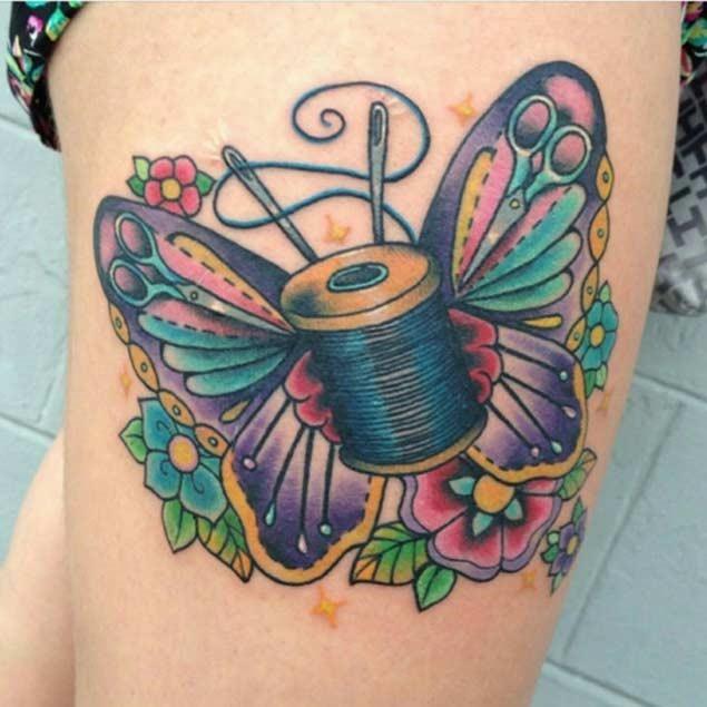 Esta linda borboleta pouco