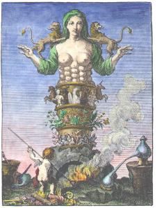 Engraving From Urban Hjarne Actorum Chemicorum Holmiensium 1753, Alchemical And Hermetic Emblems 1