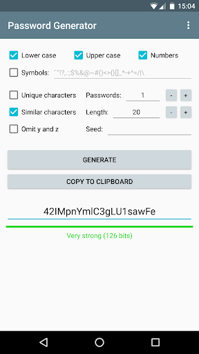 Password Generator 1.3.2 screenshots 1