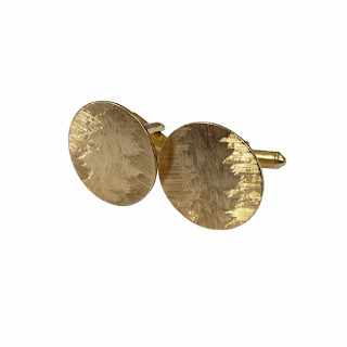 !4K Gold Etched Cufflinks