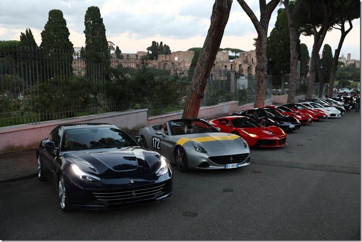 Parata Ferrari Roma_21 ottobre_le auto