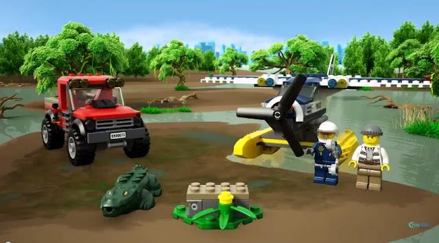 Lego City 60070 Rượt Đuổi Đầm Lầy gồm 2 nhân vật