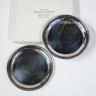 Sterling Silver Diedrich & Scheurle Coaster Pair