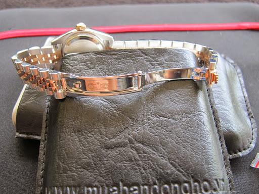 Bán đồng hồ Rolex datejust Nữ 6 số 179171 – đè mi vàng hồng – mặt vi tính hạt xoàn – size 26mm
