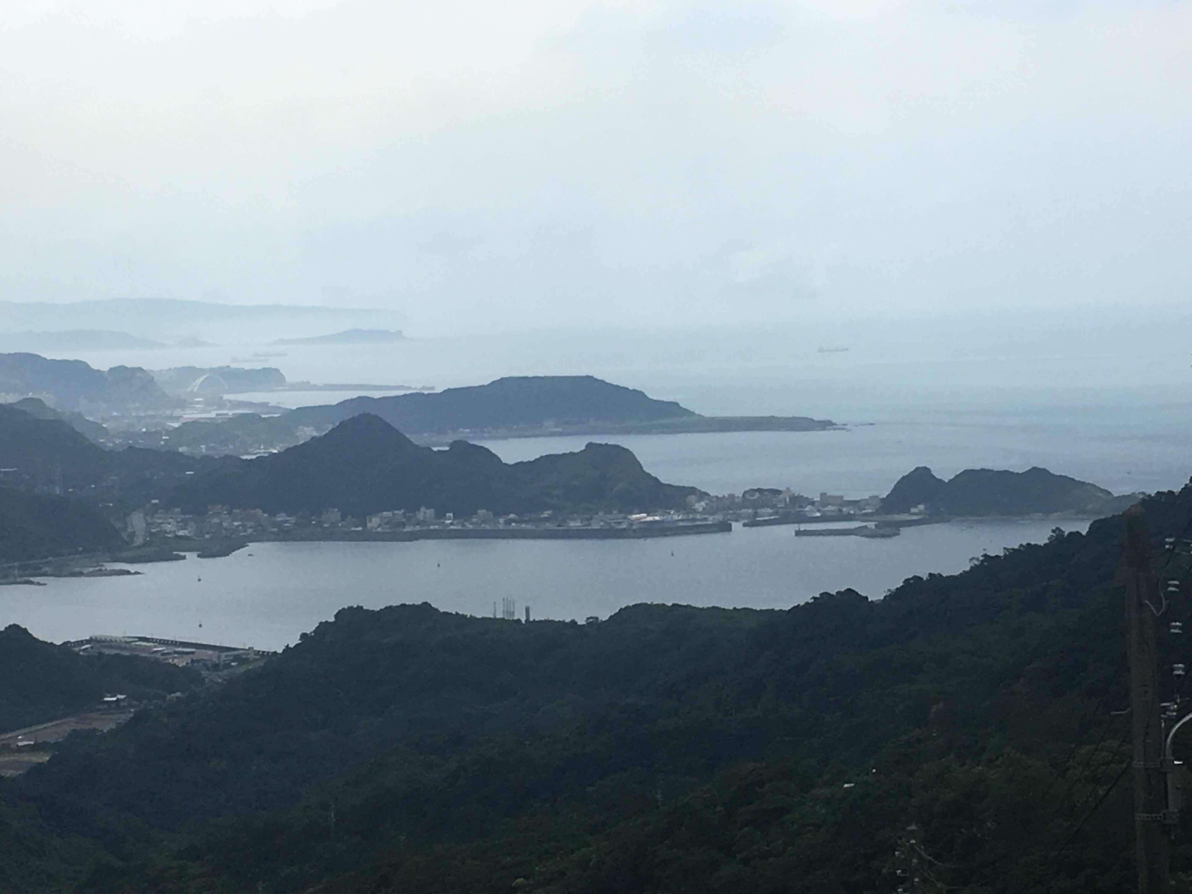 jiufen old street taipei ruifang jiufen taiwan sea mountains view