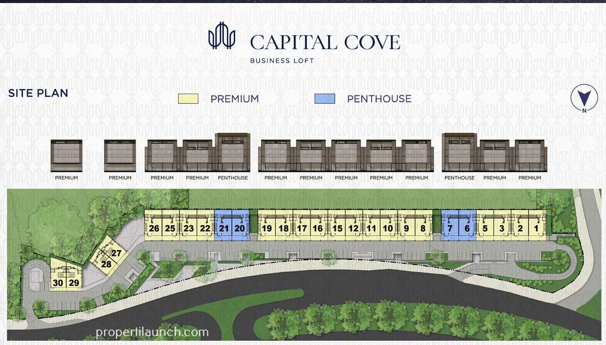 Siteplan Capital Cove Business Loft BSD