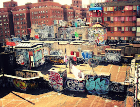 Photo: The roof top graffiti of Chinatown and the Lower East Side.   Two Bridges, New York City  View the writing that accompanies this post here at this link on Google Plus:  https://plus.google.com/108527329601014444443/posts/d2XTzQMBDJM  View more New York City photography by Vivienne Gucwa here:  http://nythroughthelens.com/
