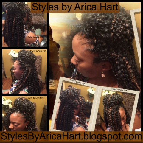 crochet braid hairstyle