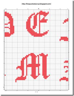 Abacedario Gotico en patrones punto de cruz_003