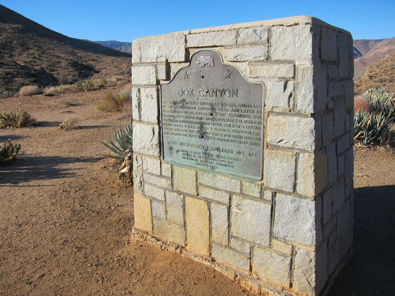 Box Canyon California Historical Landmark