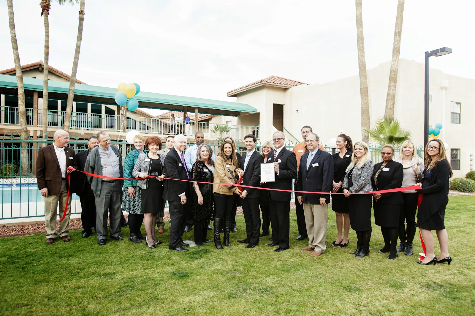 Manor at Midvale - The Tucson Metro Chamber was proud to attend The Manor at Midvale's Grand Re-Opening and Ribbon Cutting ceremony on January 23rd. The Manor at Midvale now offers residents a brand new movie theater, upgraded ice cream parlor, stunning landscape, and a beautifully remolded pool, spa and fitness center. Call today to schedule a tour which includes one of their chef prepared meals.520-834-8385.
