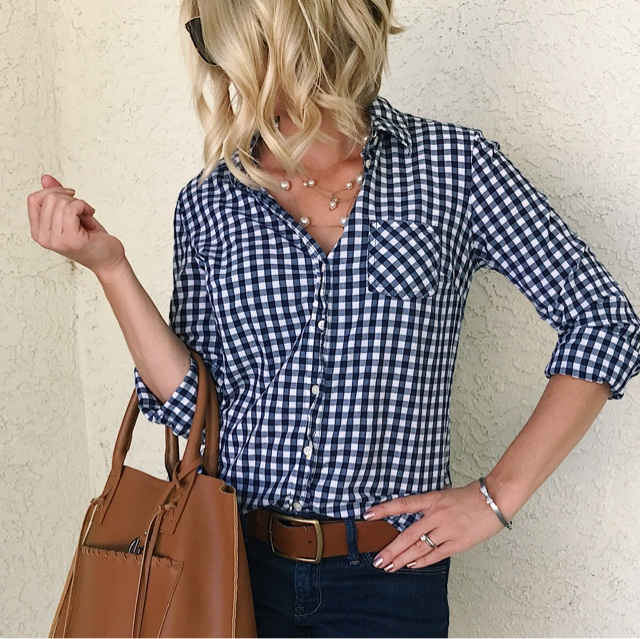 Thrifty Wife, Happy Life || Gingham shirt