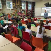 Ruben Slechten op bezoek in het 3e leerjaar