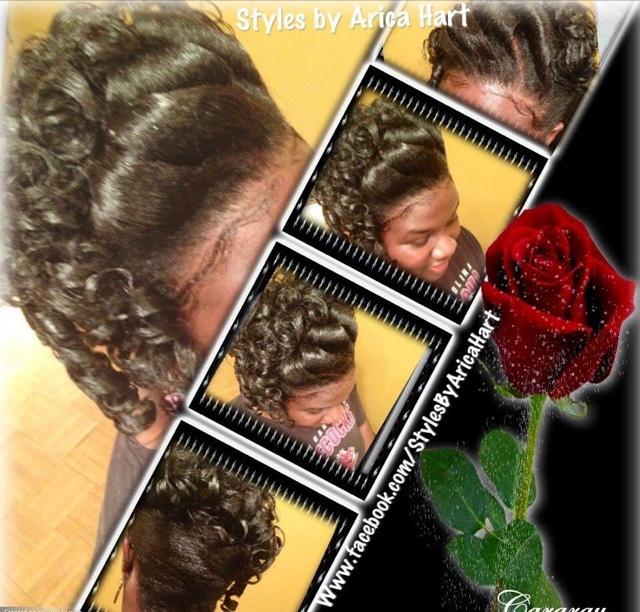 Rod hair styles, Updo Hair Styles, black hairstyles