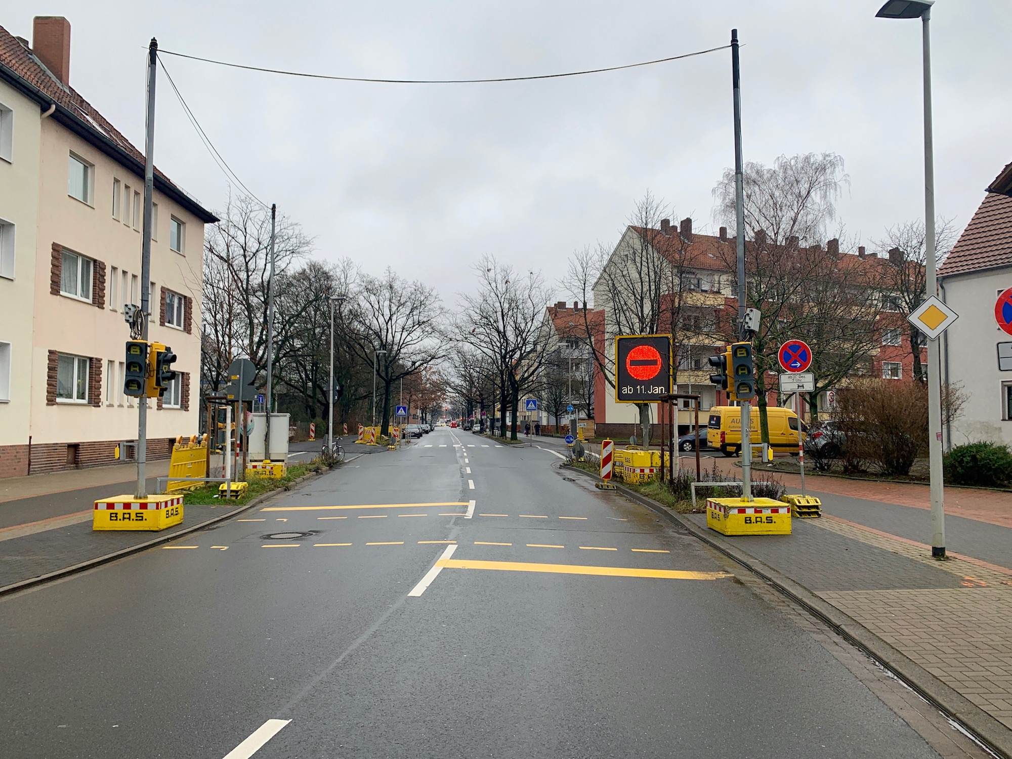 Vahrenwald: Bauarbeiten Melanchthonstraße