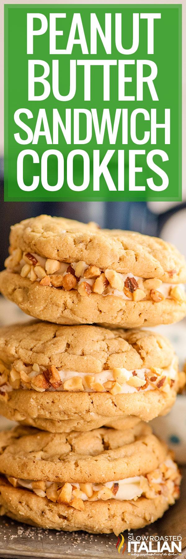Peanut Butter Sandwich Cookies closeup
