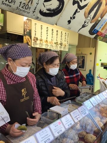 Manju stand on Nakamise street