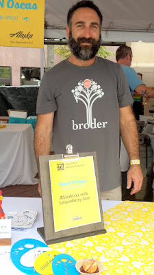 Brunch Village Feast 2015 the team lead by Daniel N Oseas of Broder Café offered fresh made Aebleskiver with Lingonberry Jam