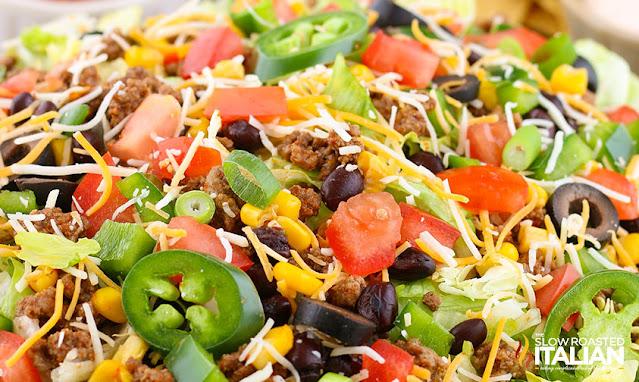 taco salad recipe in a bowl