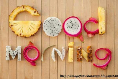 Good Morning with slice of fruits