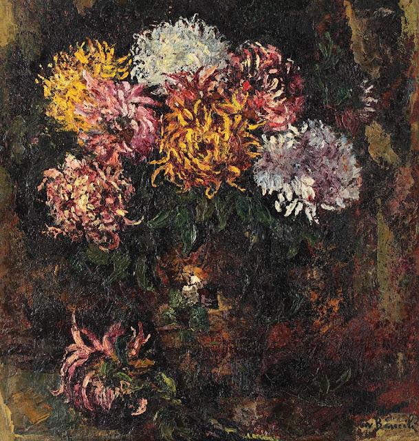 Octav Băncilă - Vas cu crizanteme