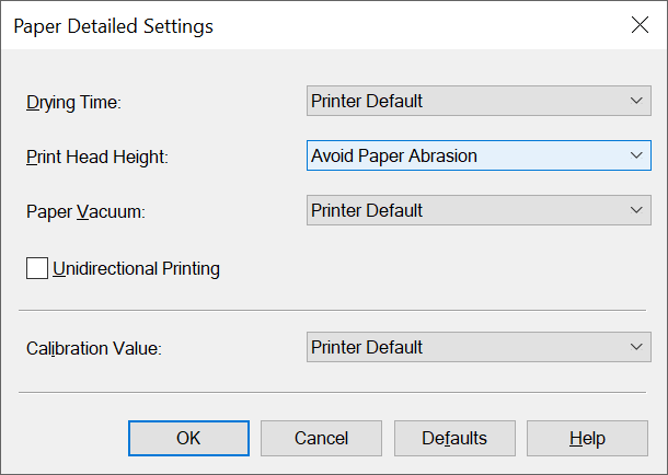 Canon PRO-1000 XPS Driver Paper Detailed Settings for Red River Palo Duro Etching