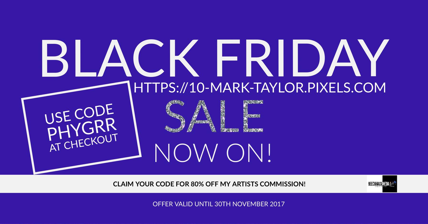 Black Friday art sale Mark Taylor Fine art America
