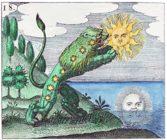 The Green Lion Devours The Sun, Emblems Related To Alchemy