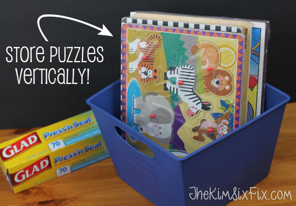 How to store puzzles easily