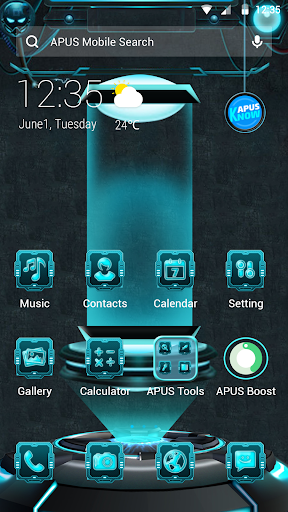 Mechanical Future APUS Launcher theme - screenshot