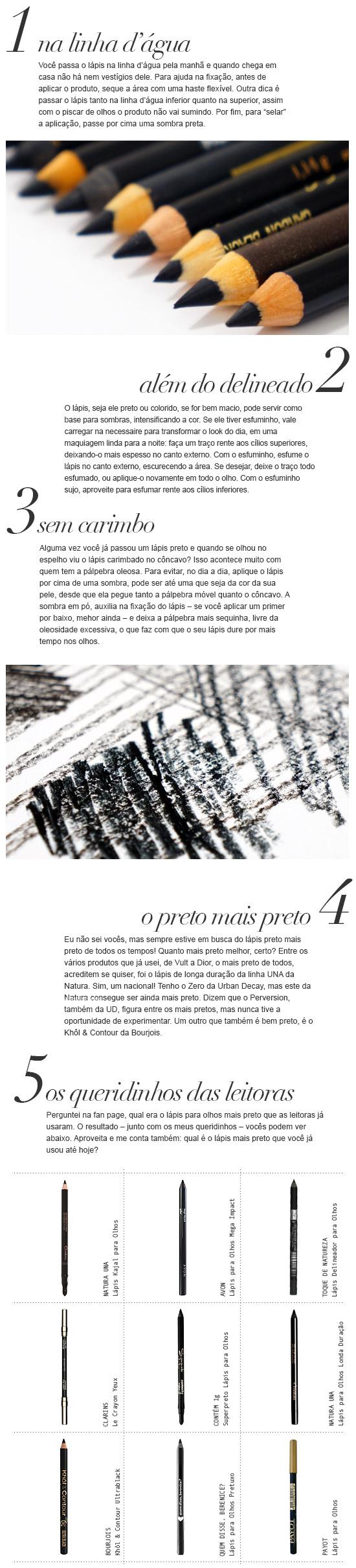 Dicas | Lápis Preto